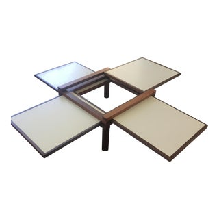 Mid-Century Pull-Out Coffee Table