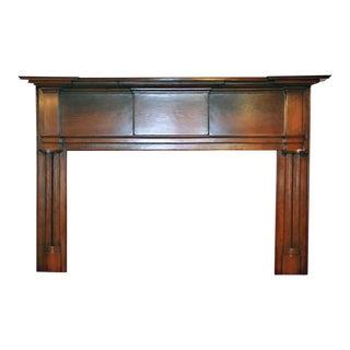 19th Century American Pine Wood Mantel