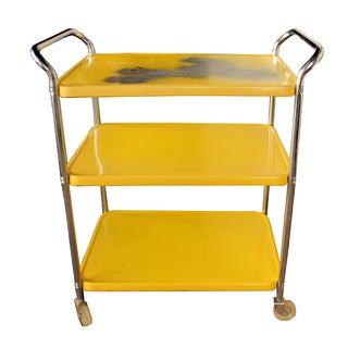 Mid Century Metal Bar Cart