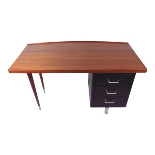 -Century Steel & Teak Writing Desk
