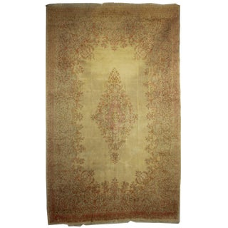 "Hand Knotted Wool Persian Kerman Rug - 11'7"" X 18'7"""