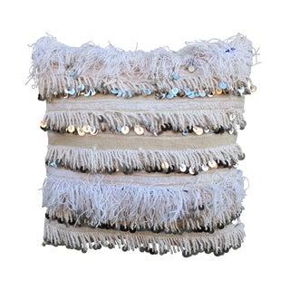 Moroccan Handira Wedding Blanket Throw Pillow