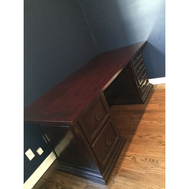 Pampa Furniture Traditional Dark Wood Desk - Image 3 of 5