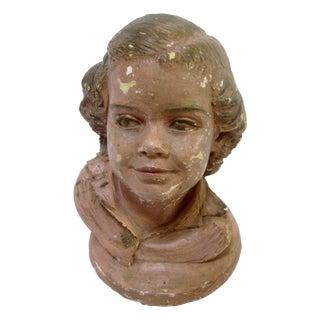 Child's Head Mannequin Sculpture