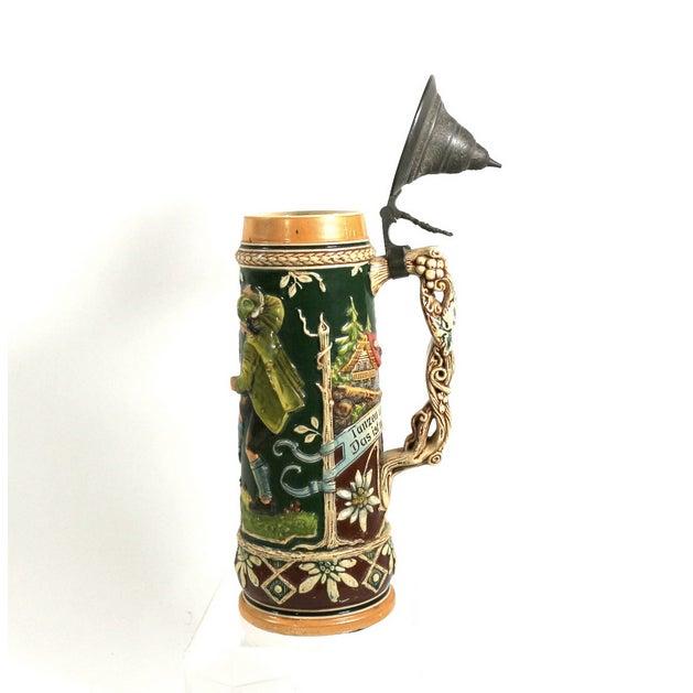 1900s 1.5 Liter Beer Stein by Karl Beuler Germany - Image 2 of 6