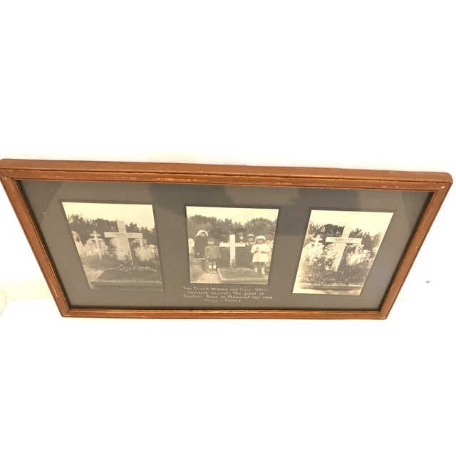 Antique French Funerary Scene Triptych - Image 4 of 7