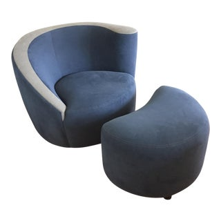 Vladimir Kagan Chair & Ottoman