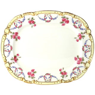 Tiffany & Co Antique Rose Design Serving Platter