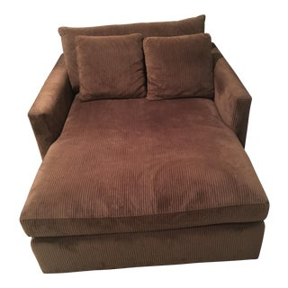 Crate & Barrel Brown Lounge Chair