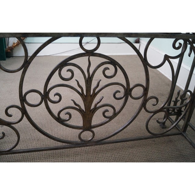 Iron Gothic Style Slate Top Console Table - Image 6 of 10