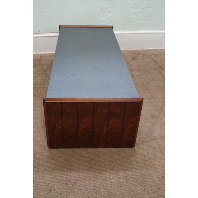 Image of Lane Mid Century Faux Slate Top Coffee Table