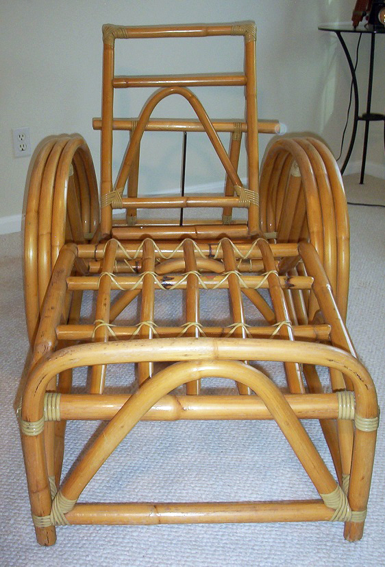 Frankl-Style Three Band Rattan Chaise Lounge - Image 3 of 8  sc 1 st  Chairish : chaise lounge band - Sectionals, Sofas & Couches