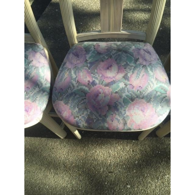 Floral Dining Room Chairs - Set of 4 - Image 3 of 4