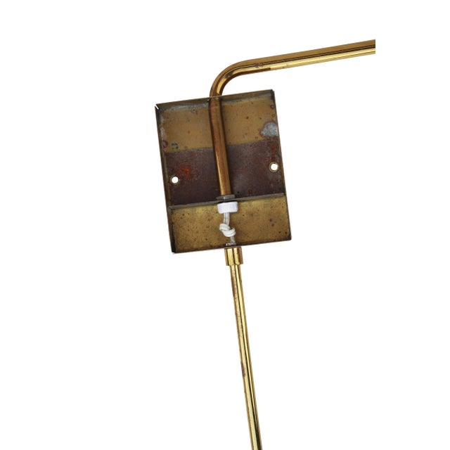 Swing Arm Sconces in Brass by Koch + Lowy - a Pair - Image 7 of 9