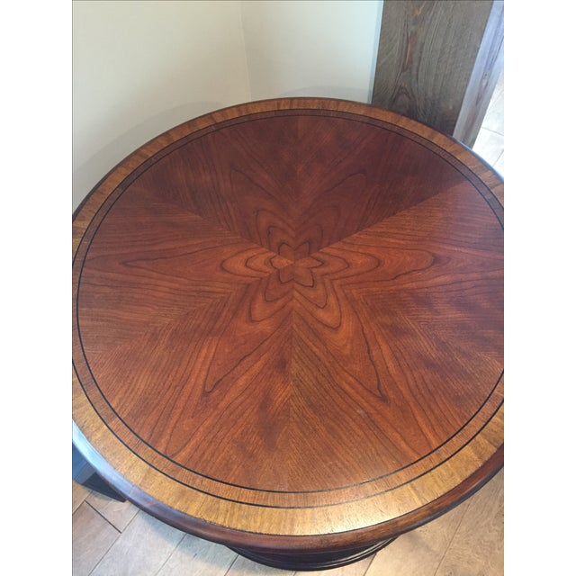 Ethan Allen Starburst Library Table - Image 3 of 4