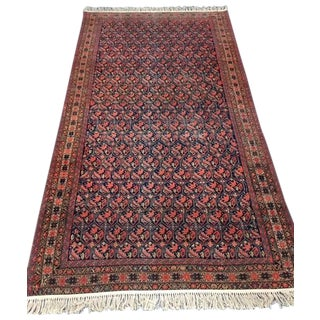 "Antique Persian Bidjar Rug - 5'1"" X 9'10"""