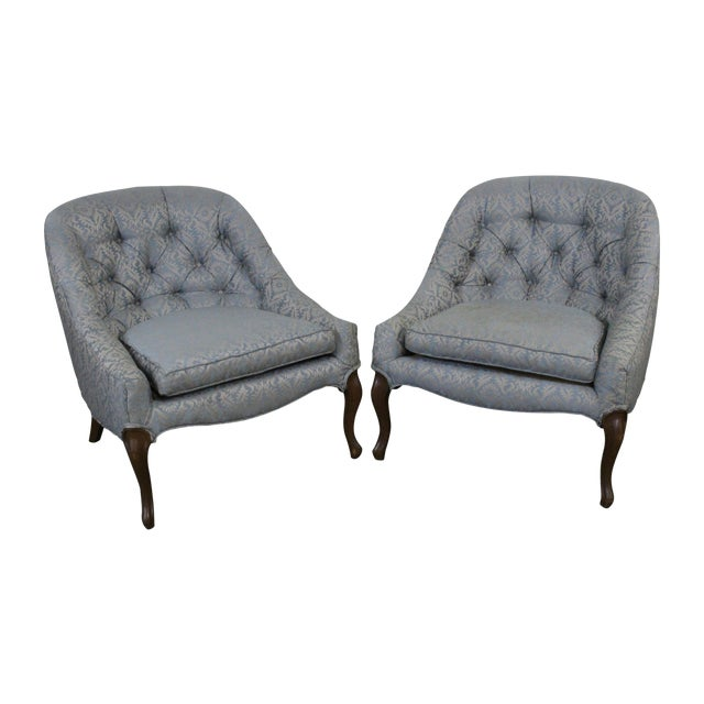 Petite Mid-Centruy Slipper Chairs - A Pair - Image 1 of 6