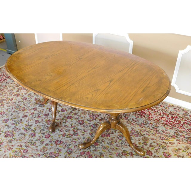98 queen anne dining room table queen anne tiger for 3 leaf dining room tables