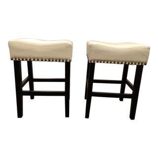 Nailhead Counter Stools - A Pair