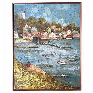 Martha's Vineyard Vintage Impressionist Oil Painting by A. Bonine