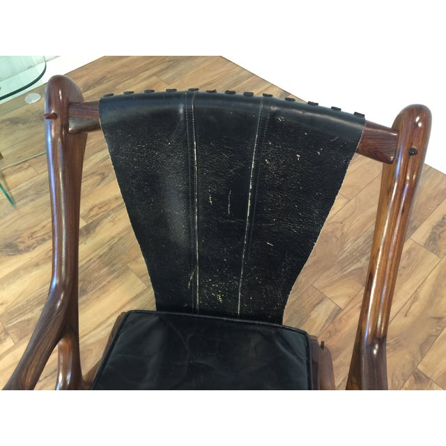 Don Shoemaker Studio Rosewood Swing Chair - Image 11 of 11