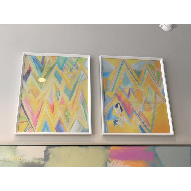 "Framed ""Peaks 4"" Print - Image 4 of 4"