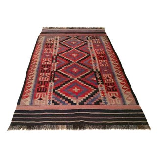 Tribal Hand Knotted Kilim Rug - 5′ × 9′