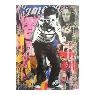 "Mr. Brainwash "" Smile "" Original Lithograph Print Pop Art Poster"