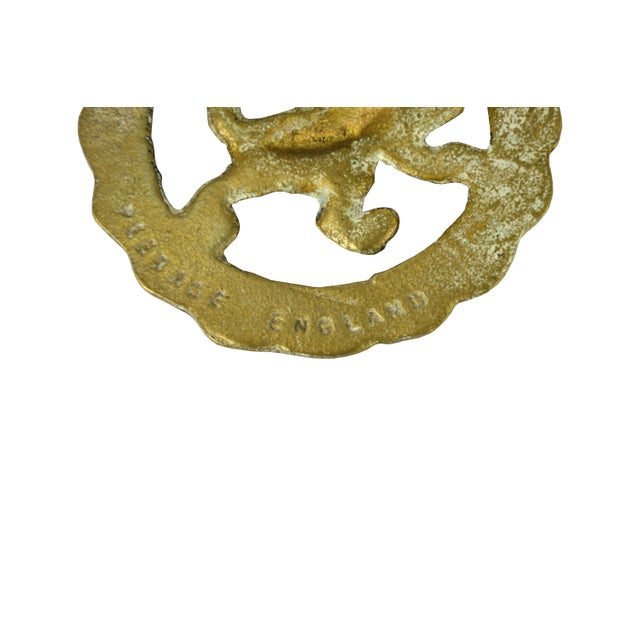 Vintage English Equestrian Lion Ornament - Image 2 of 3
