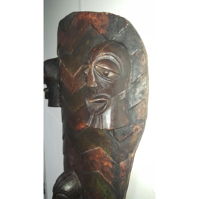 Hand Crafted African Wooden Shield - Image 7 of 9