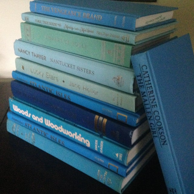 Set of Bright Blue Decorative Books - 11 - Image 11 of 11