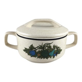 Fall Bounty Stoneware Sugar Bowl With Lid