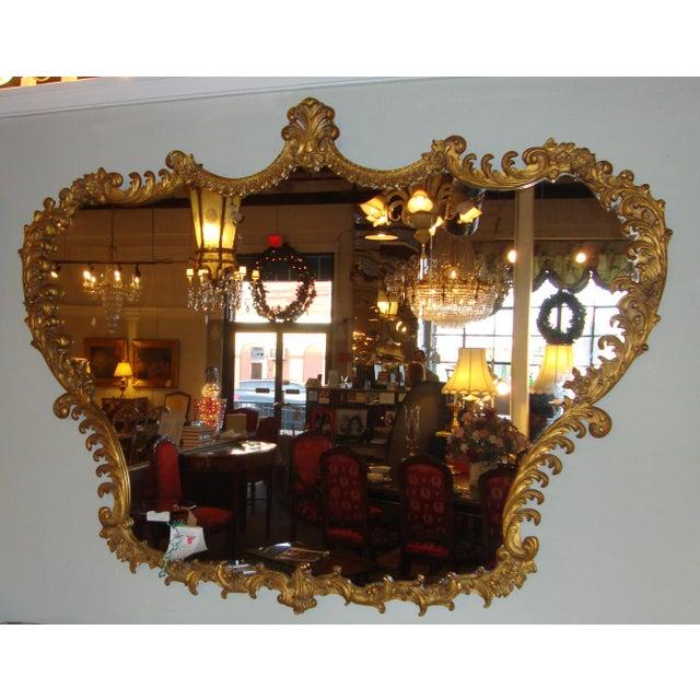 Italian baroque carved giltwood mirror chairish for Italian baroque mirror
