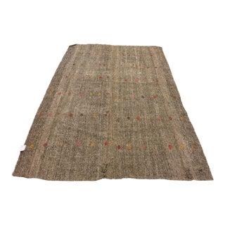 Vintage Turkish Kilim Rug - 5′10″ × 8′8″