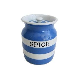 Vintage English Cornishware Spice Canister
