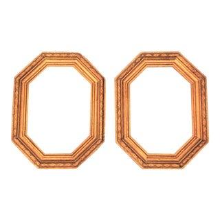 Vintage Octagon Gold Leaf Picture Frames - a Pair