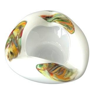 Opaque Colorful Murano Glass Ashtray