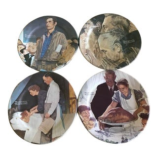 Norman Rockwell Four Freedoms Metal Collector Plates - Set of 4
