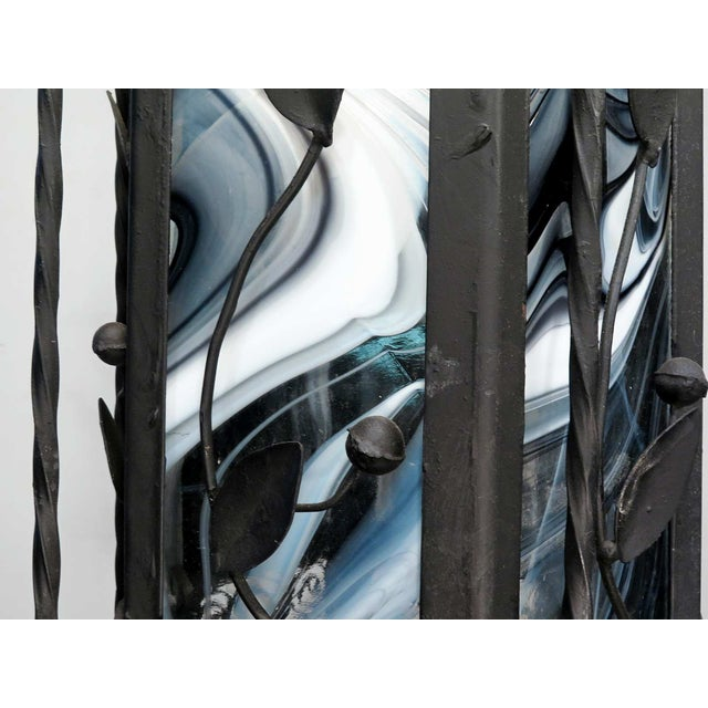 Black & White Iron Pendant Chandelier - Image 5 of 7