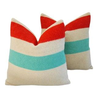 Custom Hudson's Bay Camp Blanket Pillows - A Pair