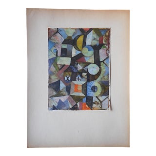 Vintage Klee Mid 20th C. Abstract Collotype