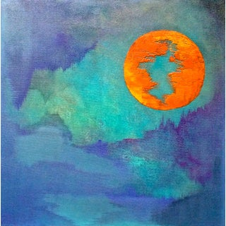 """""""Harvest Moon"""" Original Abstract Painting"""