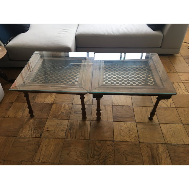 Spanish Rustic Glass Top Coffee Tables - Pair