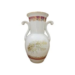 Real S. Paulo Floral & Gold Porcelain Vase