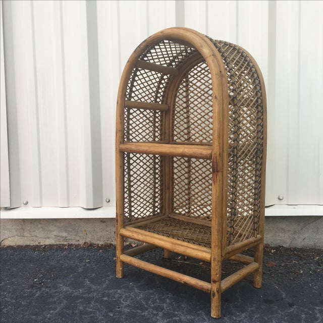 Vintage Rattan Shelf Chairish