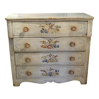 Shabby Chic Antique Painted Floral Dresser