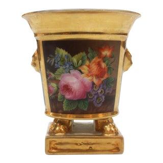 Porcelain Bulb Pot by Darte Frères, Paris