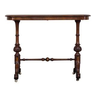 Antique English Burl Walnut Table circa 1880
