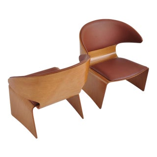 "Hans Olsen for Frem Rojle Teak ""Bikini"" Lounge Chairs"