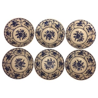 Vintage Blue and White Bowls - Set of 6